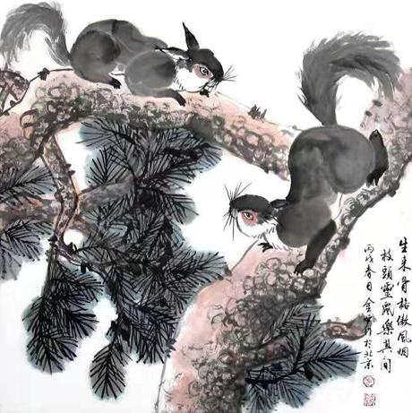 笔势雄奇 姿态横生–—方金炉先生的国画意境之美-天津热点网